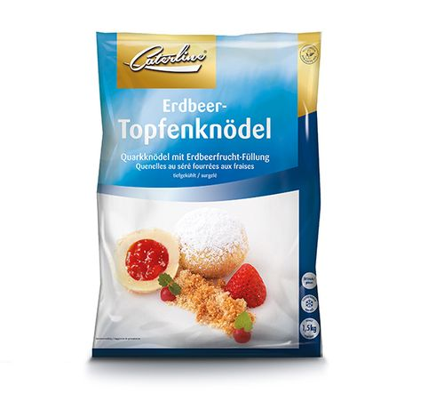 Tiefkühl Erdbeer Topfenknödel verpackt von Caterline